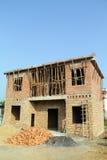 La costruzione di alloggio in Cina rurale Fotografie Stock