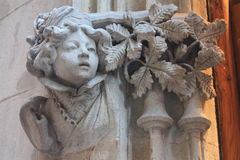 La costruzione di bassorilievo a Venezia Immagine Stock
