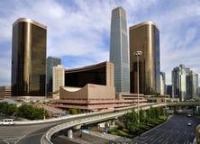 La costruzione di CBD, orizzonte di Pechino Immagini Stock
