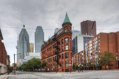 La costruzione di ferro da stiro a Toronto nel Canada Fotografie Stock Libere da Diritti