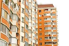 La costruzione di mattone rosso moderna Fotografia Stock Libera da Diritti