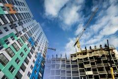 La costruzione di nuova casa residenziale dell'appartamento Immagini Stock Libere da Diritti