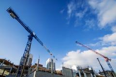 La costruzione di nuova casa residenziale dell'appartamento Immagine Stock