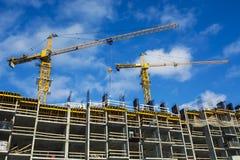 La costruzione di nuova casa residenziale dell'appartamento Fotografie Stock