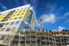 La costruzione di nuova casa residenziale dell'appartamento Fotografia Stock