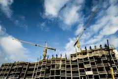 La costruzione di nuova casa residenziale dell'appartamento Immagini Stock