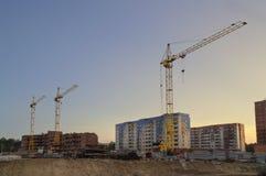 La costruzione di nuovi condomini Fotografia Stock Libera da Diritti