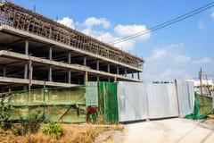 La costruzione di pavimenti delle costruzioni 4 ha porta dello zinco è chiusa Fotografia Stock