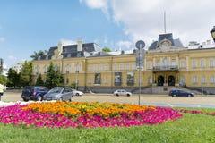 La costruzione di precedente Royal Palace Oggi Art Gallery nazionale a Sofia fotografie stock