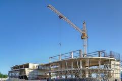 La costruzione di technopark nella città di Koltsovo Fotografie Stock