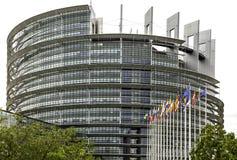 La costruzione di UE a Strasburgo immagini stock libere da diritti