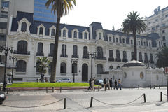 La costruzione europea Santiago di stile fa il Cile Fotografie Stock Libere da Diritti