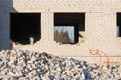 La costruzione fra batte giù Fotografia Stock Libera da Diritti