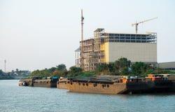 la costruzione ha una struttura d'acciaio e un pesante fotografia stock libera da diritti