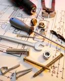 La costruzione lavora la serie Immagine Stock