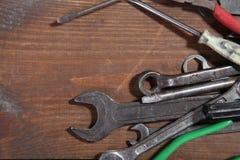 La costruzione martella le pinze dello strumento della riparazione del cacciavite Immagini Stock