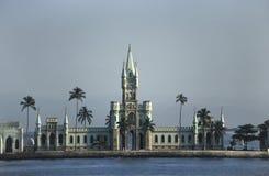 La costruzione Ne-gotica del Ilha fiscale in Rio de Janeiro, Br fotografia stock libera da diritti
