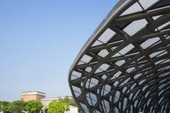 La costruzione nell'internazionale Flora Exposition di Taipei Fotografie Stock