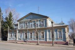 La costruzione nella città provinciale di Zarajsk, regione di Mosca Fotografie Stock