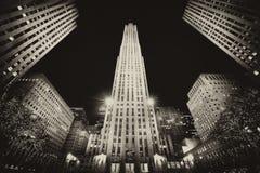 La costruzione a New York Immagini Stock Libere da Diritti