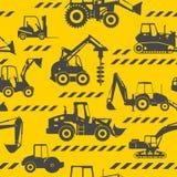 La costruzione pesante lavora il fondo a macchina senza cuciture Immagini Stock