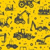 La costruzione pesante lavora il fondo a macchina senza cuciture Fotografia Stock Libera da Diritti