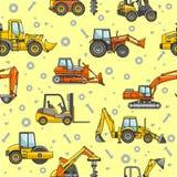 La costruzione pesante lavora il modello a macchina senza cuciture Fotografie Stock