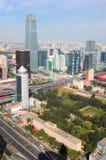 La costruzione più alta nella città di Pechino Fotografia Stock