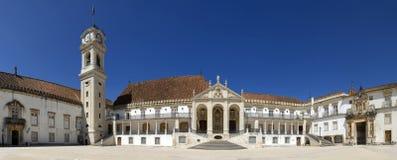 La costruzione principale dell'università di Coimbra Fotografie Stock Libere da Diritti