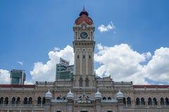 La costruzione quadrata di Merdeka in Kuala Lumpur fotografie stock libere da diritti