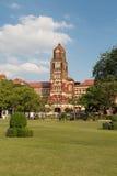 La costruzione rossa del palazzo in Rangoon, Myanmar dell'alta corte Fotografia Stock