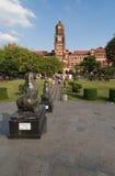 La costruzione rossa del palazzo in Rangoon, Myanmar dell'alta corte Immagine Stock Libera da Diritti