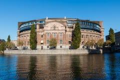 La costruzione svedese del Parlamento immagine stock