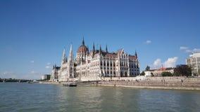 La costruzione ungherese del Parlamento fotografia stock