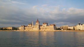 La costruzione ungherese del Parlamento immagini stock libere da diritti