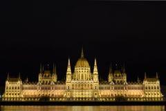 La costruzione ungherese del Parlamento immagine stock libera da diritti