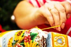 La costura de la cruz Fotografía de archivo libre de regalías