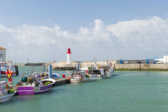 La Cotinière Oleron Francia del puerto Fotos de archivo