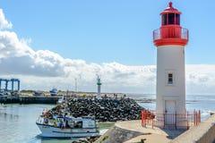 La cotiniere,在Oleron海岛,法国上的捕鱼港口 免版税库存照片