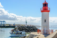 La cotiniere, vissershaven op Oleron-eiland, Frankrijk royalty-vrije stock foto