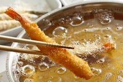 La cottura, frigge nel grasso bollente Fotografia Stock