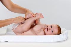 La couche-culotte du bébé Images libres de droits