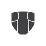 La couche jetable, vecteur d'icône de couche-culotte, a rempli signe plat, pictogramme solide d'isolement sur le blanc illustration stock