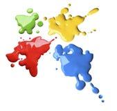 La couleur éclabousse Photos libres de droits