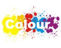 La couleur éclabousse Images stock