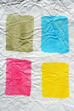 la couleur a écrasé le papier peint par quatre Photo stock