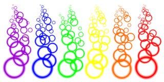 Cercles brouillés par couleur Image libre de droits
