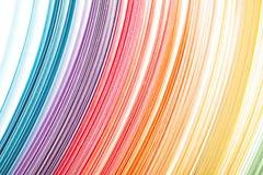 La couleur abstraite a isolé le fond de vagues Images stock
