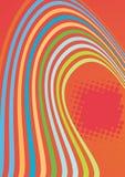 La couleur abstraite ondule la composition Images stock