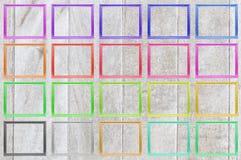 La couleur ajuste le cadre de tableau en bois Images libres de droits